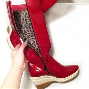 Aquatalia Shoes - AQUATALIA BY MARVIN K 7.5 Red Platform Heel Boot